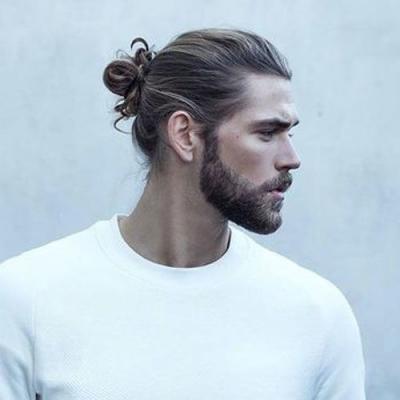 tendance coiffure homme le man bun